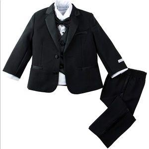 Baby Boy Black Tuxedo Baby Tux Black Tux Bow 9-12m